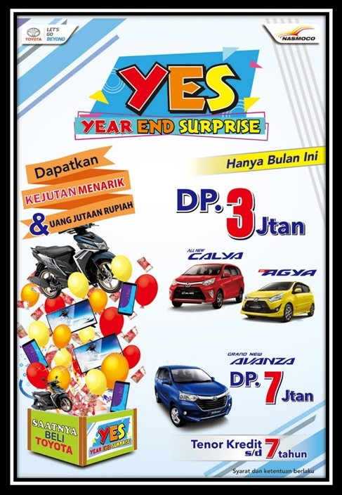 New Special Promo Year End Surprise Dealer Toyota Jogja